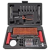 ORCISH 98Pcs Tire Repair Plug Kit Heavy Duty Flat Tire Repair Kit Tire Patch Kits Puncture Repair Kit