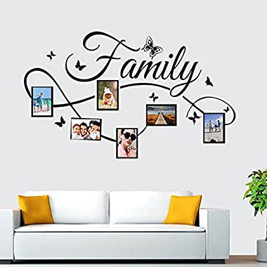 Rumas DIY Photo Frame Wall Stick for Family, Home Decor for Bedroom Baby Room Bathroom, Art Wall Mural for Office School Kindergarten, Removable Waterproof (Multicolor)