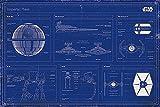 Star Wars Poster Imperial Fleet Blaupause