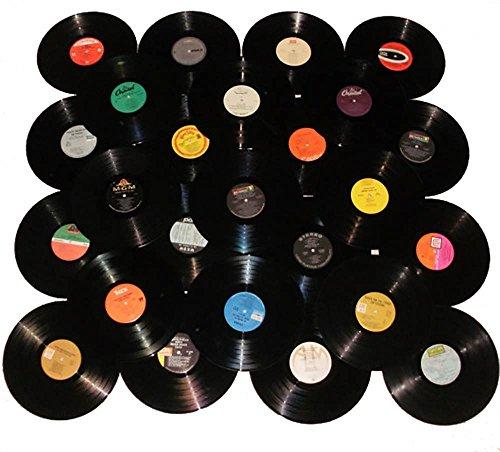 "VinylShopUS - Lot of 12"" Vinyl Records for Crafts & Decoration Artwork for Party Decor Artist Studio Vintage Look (Lot of 20)"