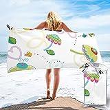 mengmeng Papel flor jardín toalla de secado rápido para deportes gimnasio viajes yoga camping natación Super absorbente compacto ligero toalla de playa