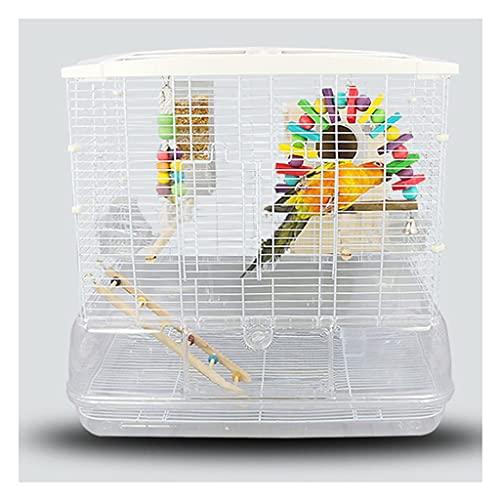 Jaula para pajaros Jaula de pájaros jaula loro grande de la jaula de cría con contenedor de alimentos adecuado, para periquitos canarios amor pájaros pequeños loros transparentes aviares Casas para p