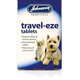 Johnson's TRAVEL-EZE TABLETS X24 – HEALTHY CAT OR DOG, ANTI-MOTION/TRAVEL SICKNESS