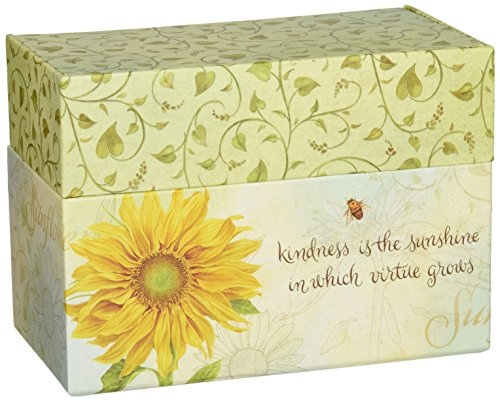 LANG - Recipe Card Box - 'Virtue Grows' - Artwork by Jane Shasky - Easel Style Cover - 12 Coordinating,  4 x 5 Recipe Cards w Dividers -  6.75' x 5' x 3.75'