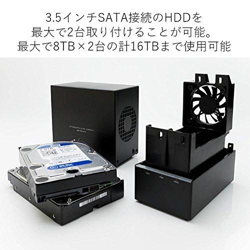 ロジテックHDDケース3.5インチ2BayUSB3.0RAID機能搭載ガチャベイLHR-2BRHU3[macOSBigSur11.0対応確認済]