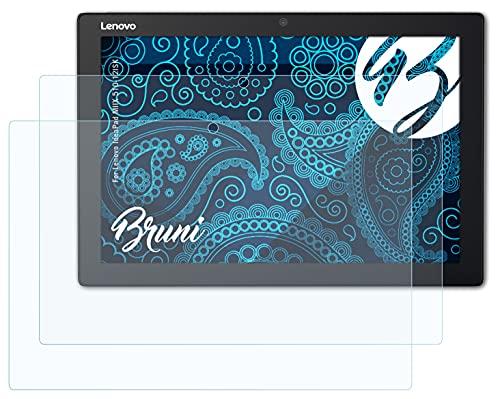 Bruni Schutzfolie kompatibel mit Lenovo IdeaPad MIIX 510-12ISK Folie, glasklare Bildschirmschutzfolie (2X)