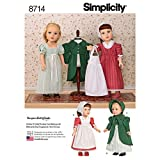 Simplicity Creative Patterns US8714OS 18' Doll Clothes Pattern
