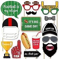 フットボール写真ブース小道具キット 27個 パーティーデコレーション用品 ギフト 楽しい写真サイン 子供 男の子 大人 スポーツテーマ 誕生日 テールゲート パーティー 記念品 スーパーボウルゲームデーアクセサリー