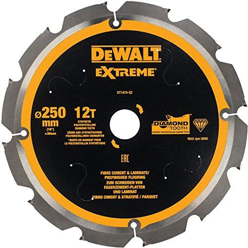 DeWalt DT1474 Faserzement-Sägeblatt 250x30mm 12Z