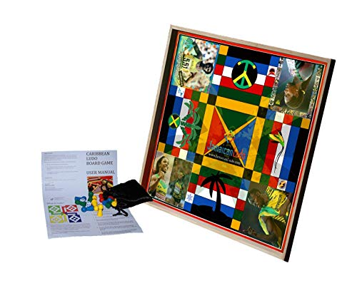 Jamaican Ludo Legendary Athletes Edition | 24in x 24in Board Game | Family Game Night Activity | Fun Easy Multi-Player Entertainment (Ludi/Ludy/Loodi)