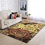 Lymnaraa Roses Area Rug Alfombra de interior suave para salón,...