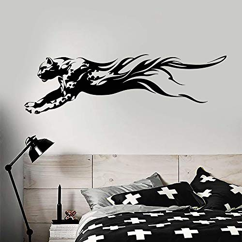 wZUN Abstrakte Raubtier afrikanisches Tier Leopard Vinyl Wandtattoo Home Decoration Schlafzimmer Teen Room Art 42x115cm