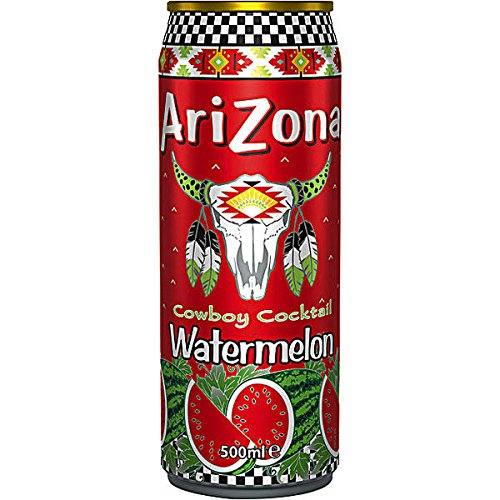 Arizona Cowboy Cocktail Watermelon (Wassermelone) 12 x 500ml Dosen (inkl. 3,00 Euro EINWEG Pfand) (