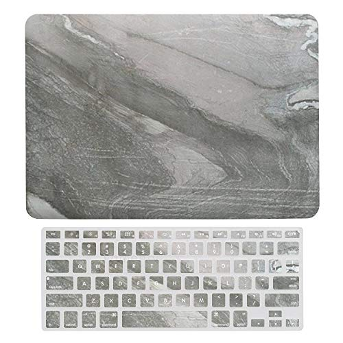 Laptop Screen Case for MacBook Air 13 & New Pro 13 Touch, Marble Pattern Keyboard Cover Screen Protector Shell Set