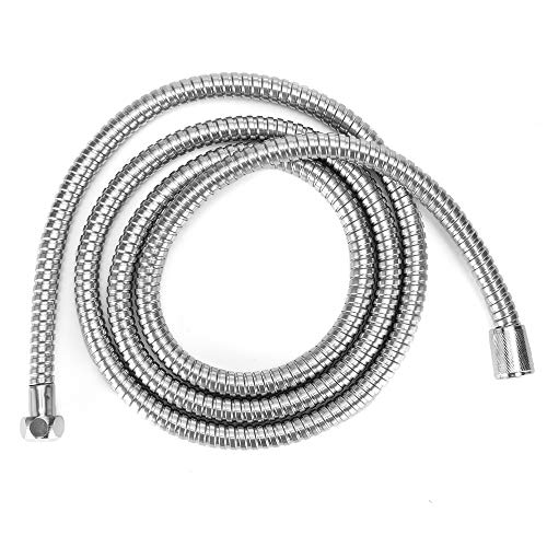 Topwor - Tubo flessibile per doccia, 150 cm, in acciaio INOX, per adulti e bambini, argento