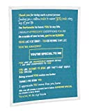 You're Special to Me Blanket Throw Gift Filled with Loving Quotes of Appreciation Gray 60 x 50 Sherpa Fleece 4 Color Options (Teal)