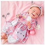 ZJYWMM Bebe Realista Recien Nacido - 18 Pulgadas Bebe Reborn De Silicona, MuñEcas Bebes para NiñAs - Regalo De CumpleañOs para NiñOs