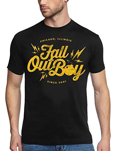 Coole-Fun-T-Shirts Herren Fall Out Boy neu T-Shirt, Schwarz, S