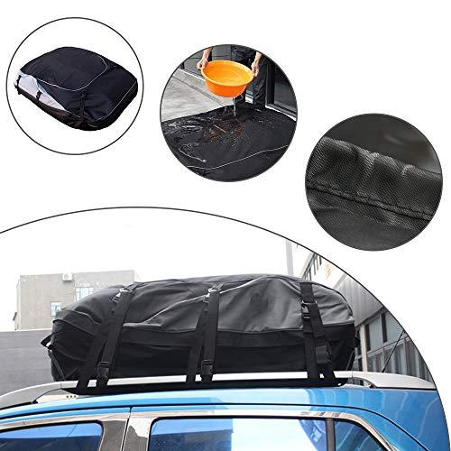 Muchkey Auto Dachgepäckträger-Tasche Schwarz Dachboxen Wasserdicht Faltbare für A UDI S3 S5 S6 S7 S8 Q2 Q3 Q5 Q7 TT R8 RS e-tron(L Size)