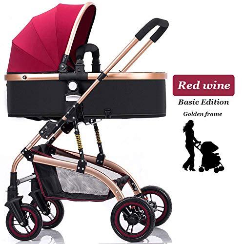 Why Should You Buy ZHAONI Baby Stroller Carriage, High Landscape Convertible Reversible Pram, Foldab...