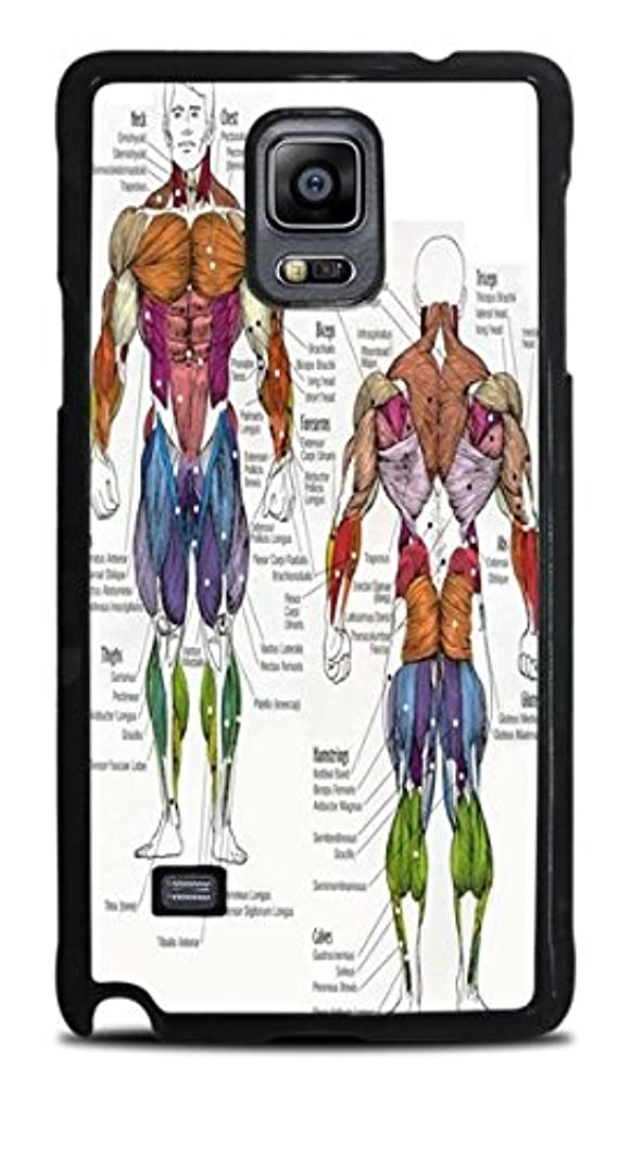 The Human Muscular System Black Hardshell Case for Galaxy Note 4 u359946391