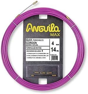 Anguila 65040014 Guía pasacables cordón acero+nylon, Purpura, 14 Metros