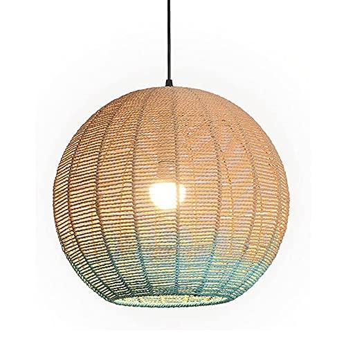 BOOHR Candelabro Ratán Bambú Mimbre Luces colgantes Nórdico Moderno Simple Iluminación para el hogar Lámpara colgante Dormitorio Sala de estar Café Bar Restaurante Luz colgante Gradiente Bola de cáñam
