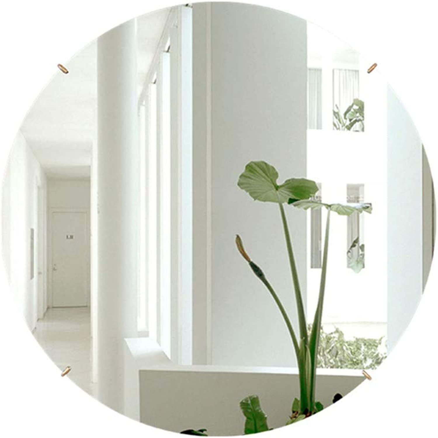 RXY-mirror Bathroom Wall-Mounted Frameless Mirror, Simple Porch Decorative Round Mirror (color   gold, Size   40cm)
