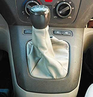 Cuffia leva cambio Fiat Idea in vera pelle grigia
