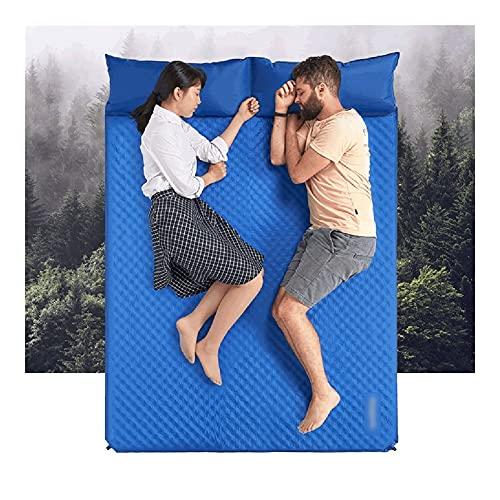 WPBOY Estera de Picnic al Aire Libre con Inflable Almohada Playa Manta Camping Matera para Dormir Plegable Picnic Espesado a Prueba de Arena Manta de Picnic Camping (Color : Blue)