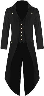 FUERI Mens Vintage Tailcoat Steampunk Coat Gothic Jacket Victorian Tuxedo Uniform Halloween Costume Carnival Vampire Medie...