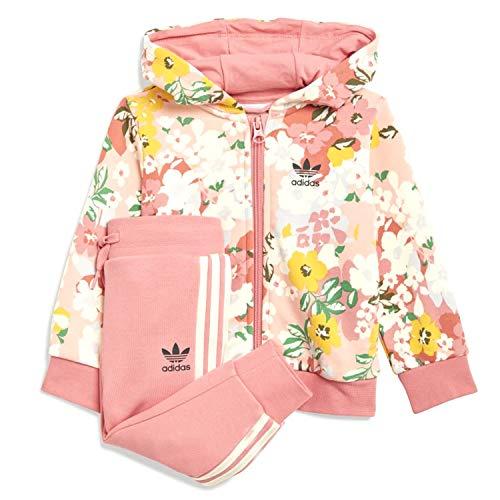 adidas Her Studio London Floral - Chándal rosa para niña GN2257 Rosa 6-9 Años