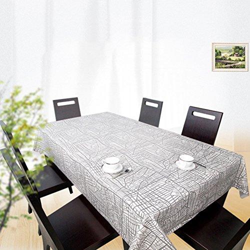 Nappes Facile essuyez Les Clips en Plastique de PVC du Rectangle Lavable de dîner pour des Parties Salle à Manger Garden Hotel Cafe Restaurant Anniversaire Grey-A 65x65cm(26x26inch)