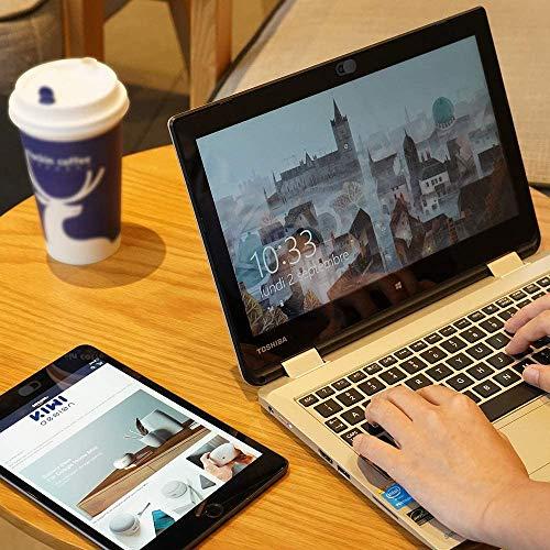 KIWI Design Webcam Abdeckung, 8er-Pack Laptop Kamera Abdeckung Slide Ultra Dünn mit Reinigungstuch für Laptop, PC, MacBook, iMac, Computer, iPad, Smartphone 8 Schwarz