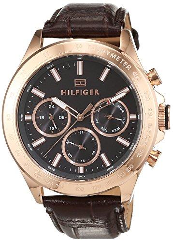 Tommy Hilfiger Herren Analog Quarz Uhr mit Leder Armband 1791225