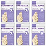 6Pairs Hand Mask, Moisturizing Gloves, Hand Mask for Dry Skin, Spa Hand Mask Gentle Soothe and Anti Aging, Nourish Hand Care for Winter Nourishing Smoothing, Repair Rough Damaged Skin for Women or Man