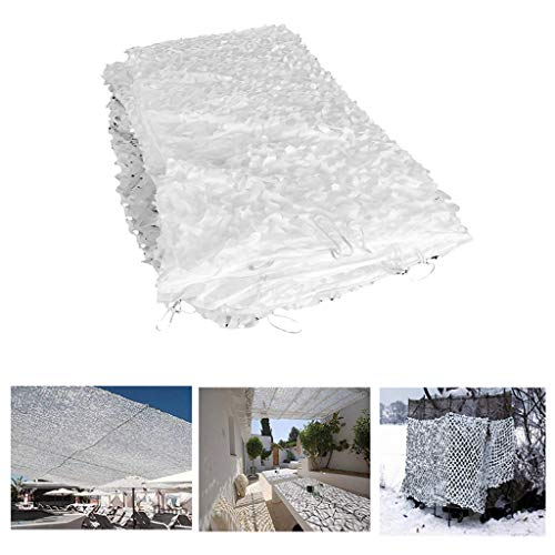 Outdoor Thickening Net Camouflage Network Awning Terrace 5x6m, Garden Shadow White Military Camouflage Grid Exterior Side Awning Cloth Candle Camouflage Awning Garden Outdoor Decoration Car Roof Photo