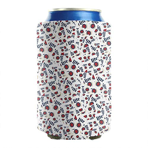 chenhou Can Cooler Miller Lite Football Can Covers Coke Can Cover Set of 2 Can Sleeve