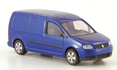 VW Caddy Maxi Kasten, met.-blau, Modellauto, Fertigmodell, Rietze 1:87