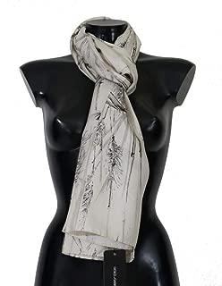 Dolce & Gabbana White Silk Bird Print Scarf