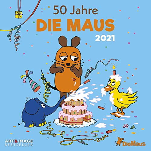 Der Kalender mit der Maus 2021 - Wand-Kalender - Broschüren-Kalender - A&I - 30x30 - 30x60 geöffnet