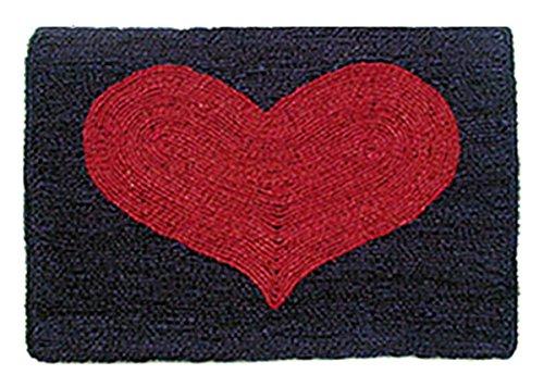 Akzente Kokosfußmatte Rotes Herz Wendematte 50 cm x 70 cm