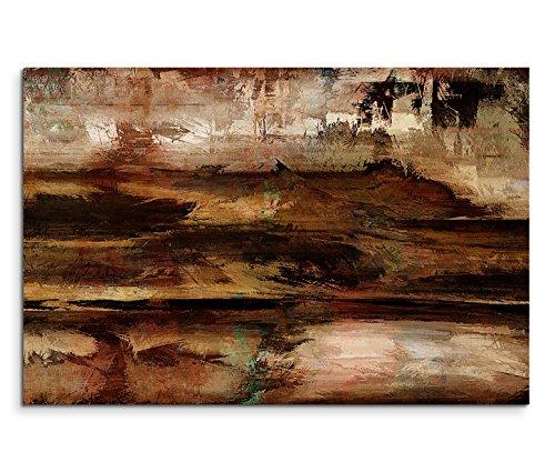 Leinwandbild 120x80cm Bild – Abstrakte Strukturen in Brauntönen