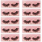 Dedila 10Pairs/Box Wholesale Faux Mink False Eyelashes Soft and Lightweight 3D False Eyelashes Natural Long Stripe Eyelashes Makeup Tools (J203)