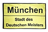 Fahne / Flagge Bayern Stadt des Deutschen Meisters München + gratis Sticker, Flaggenfritze®