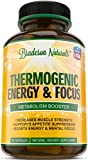 Thermogenic Energy & Focus. Accelerated Fat Burning & Natural Energy Booster - 2 Months Supply Green Tea Extract Raspberry Ketones Yohimbe Bark Caffeine L-Tyrosine & More. Non-GMO & Made in USA