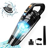 Cordless Handheld-Vacuum Portable Hand-Vacuum Rechargeable - Powerful Cyclonic Suction, with Quick Charge Tec, Mini Hand Vacuum Cleaner for Pet Hair, Car and Home Cleaning, Gold