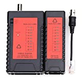 Cruser NF-468B red de Cable Tester RJ45 RJ11 RJ12 BNC CAT5 Tracker Cable de alambre plano