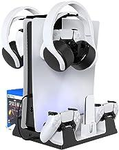 Suporte de carregador multifuncional adequado para console PS5. Existem 4 ventiladores de resfriamento de host na parte in...