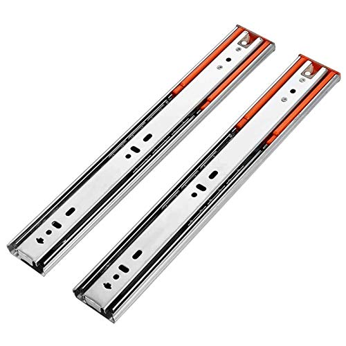 L-DREAM Guías para Cajones de Acero Inoxidable Amortiguador de Amortiguación 45 Kg Carga Silenciosa Tres Pistas (Color : Silver, Size : 250mm)